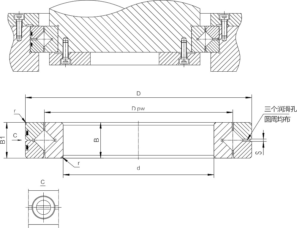 Factory directly supplied precision slewing bearing SX011824 120mm*150mm*16mm